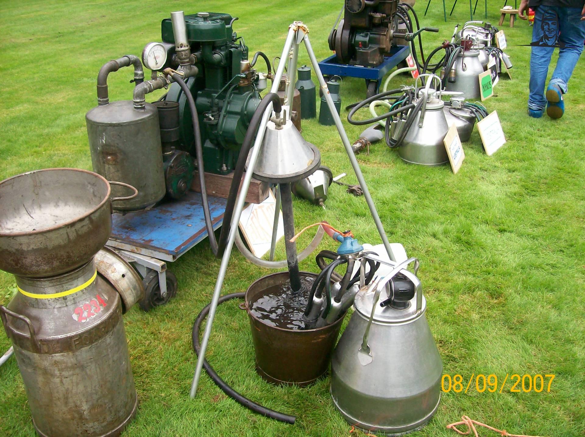 spoelinstallatie voor oude melkapparaten  van wolseley