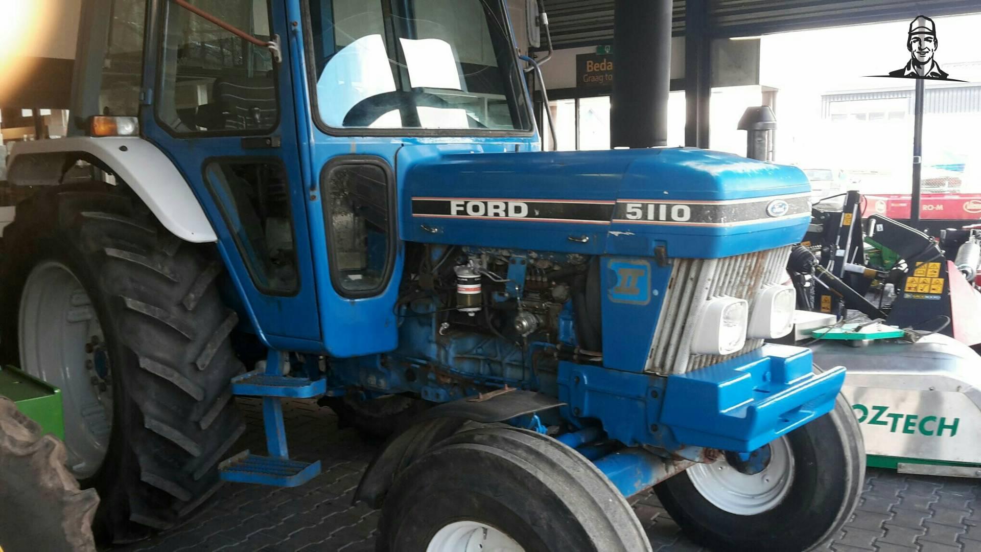 Ford 5110 voor Veegservice Hoogeveen van Sylke