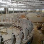 Carrousel in aanbouw