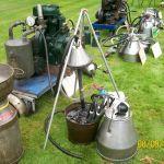 spoelinstallatie voor oude melkapparaten