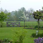 De tuin overlopend in het landschap #landschapspracht